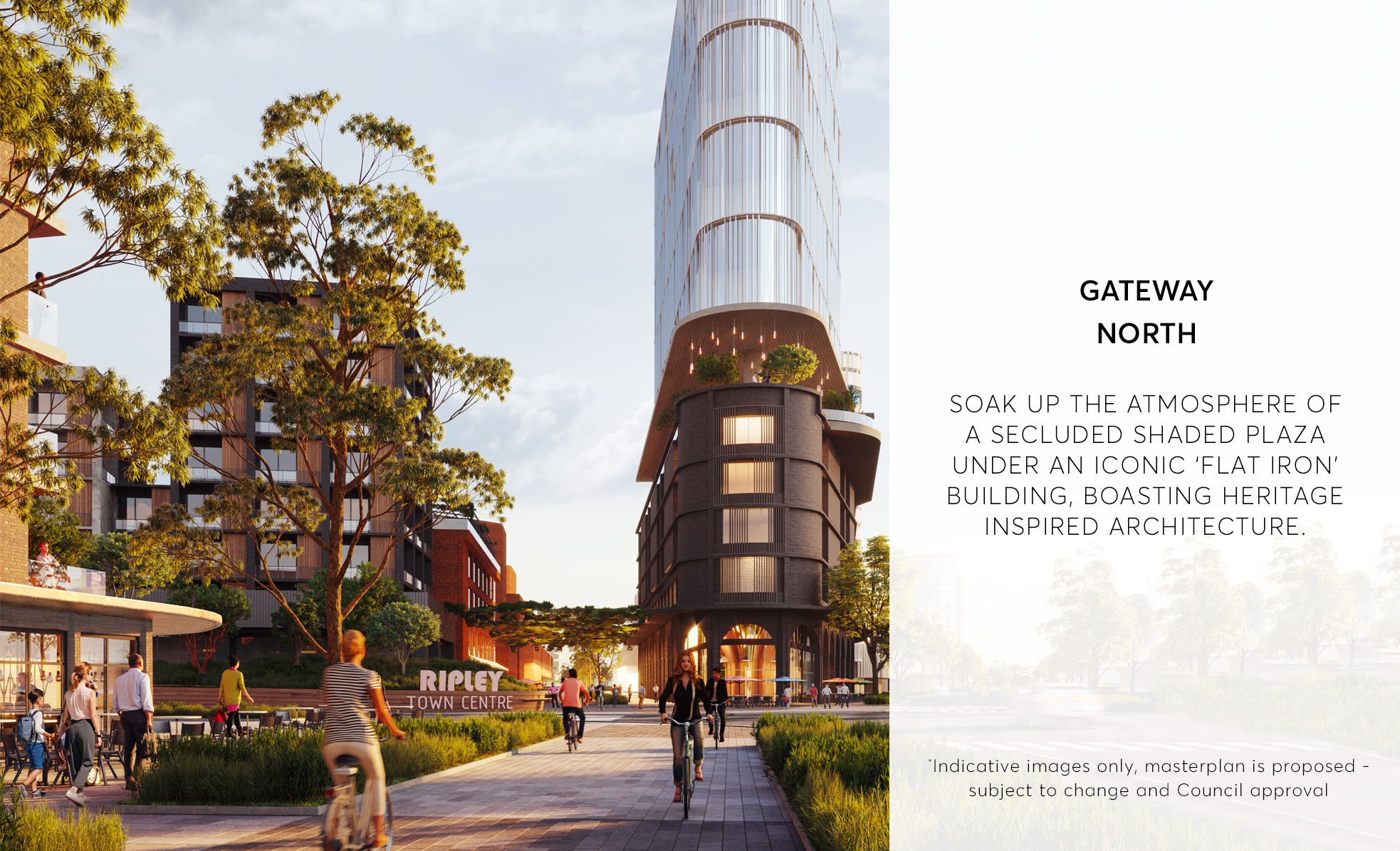 Gateway North - Ripley Town Centre - Artist Impression (subject to change and Council approval)
