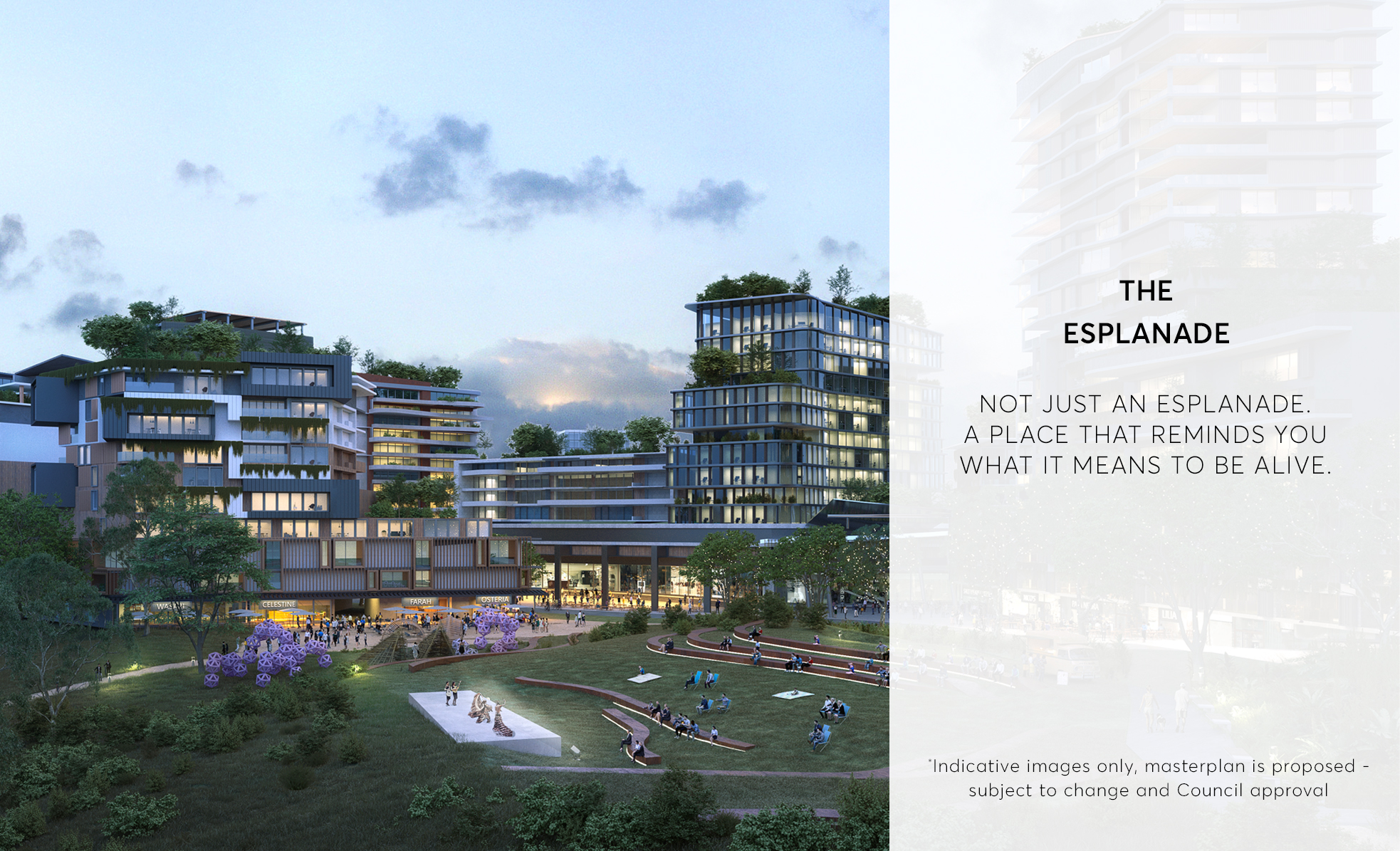 The Esplande - Ripley Town Centre - Artist Impression (subject to change and Council approval)