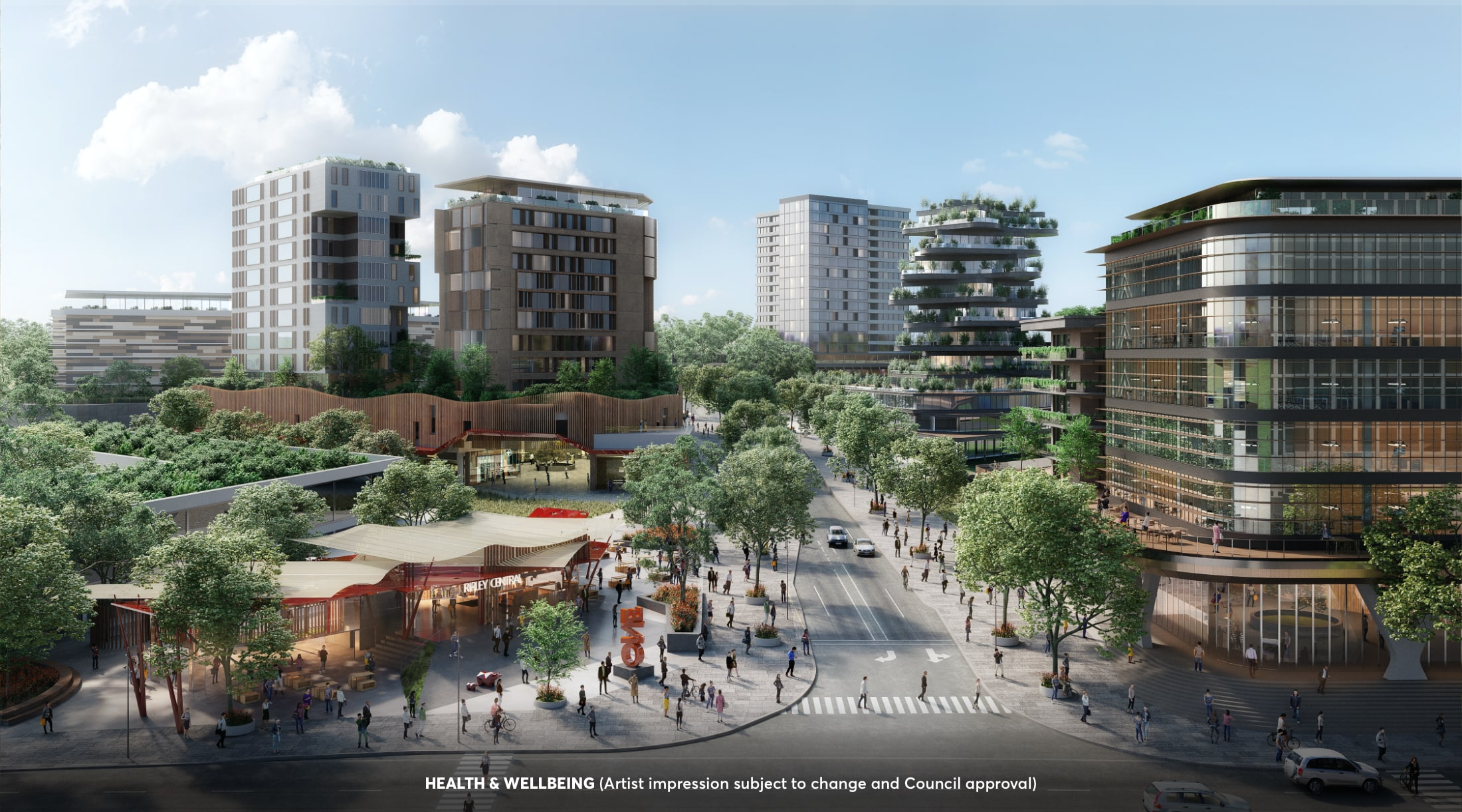 Health And Wellbeing - Ripley Town Centre - Artist Impression (subject to change and Council approval)